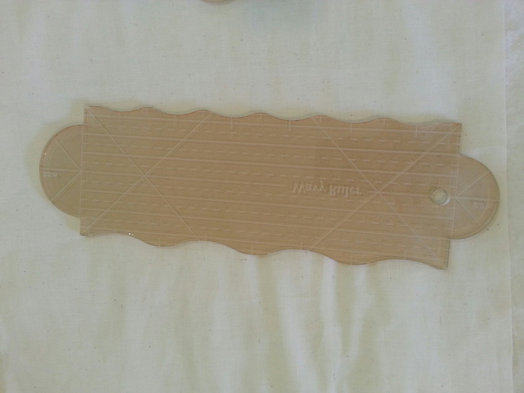 Wavy Ruler quarter inch lines