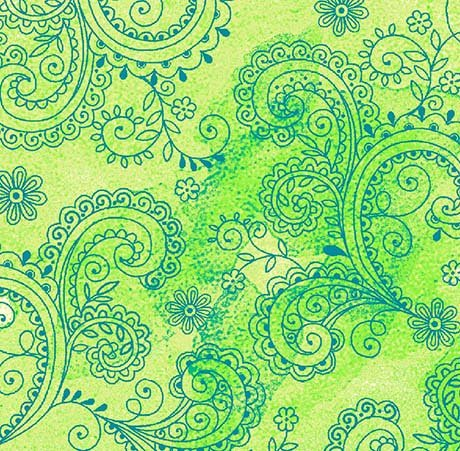 Wide Back - AVALON DECORATIVE FILIGREE - LIME