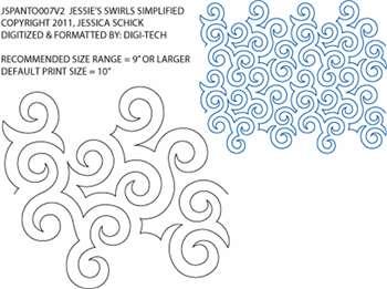 Pantograph Jessie's Swirls Simplified