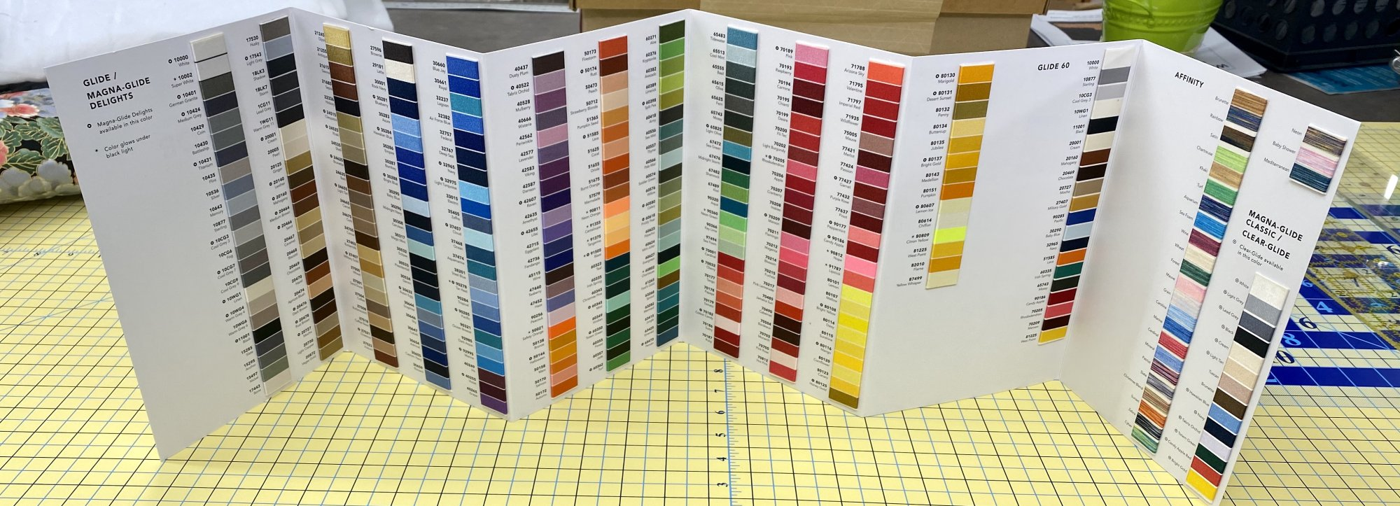 Glide Color Chart
