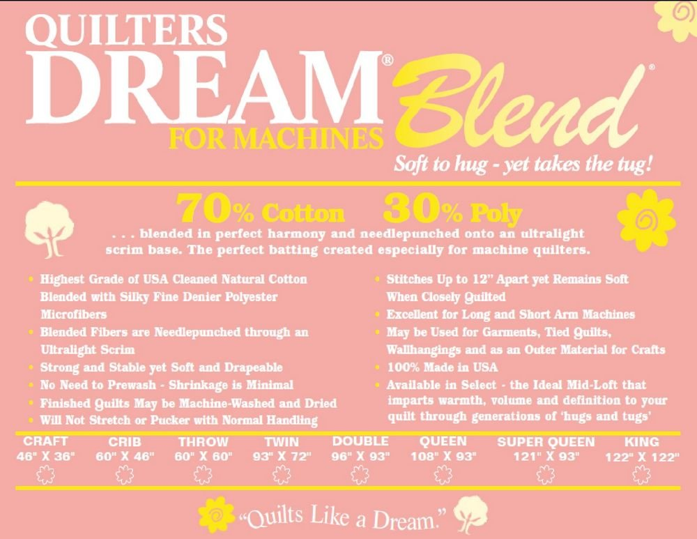 Quilters Dream Blend 70/30 - King White