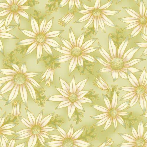 UNDER THE AUSTRALIAN SUN  flannel flowers green 15-10