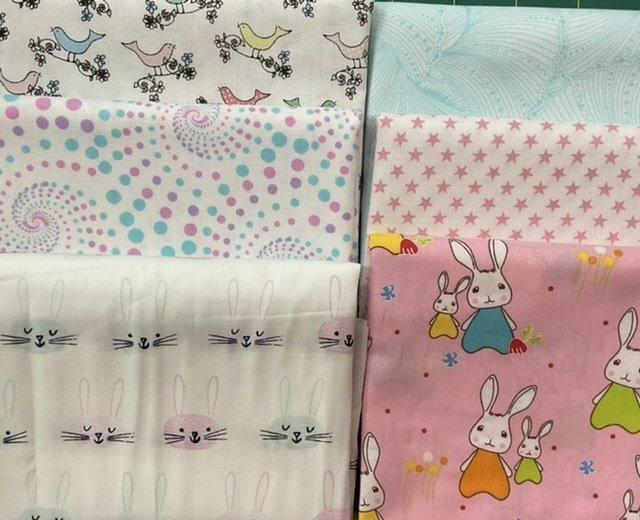Baby Cot Quilt pink bunnies and birdies