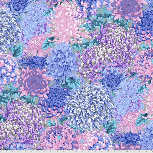 Phillip Jacobs for Kaffe collective 2021 Hokusai's Mums - Grey