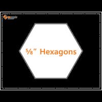5/8 hexagon papers 140 pack Imprezzio