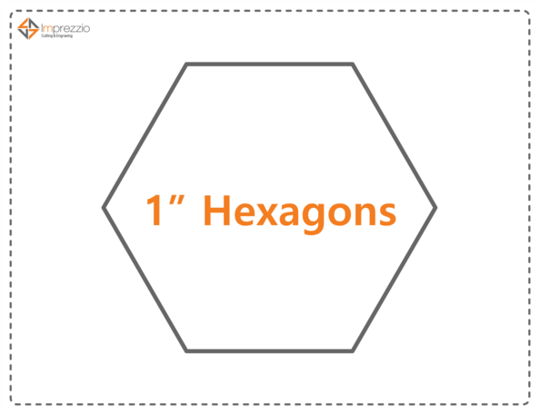 Imprezzio 1 hexagon papers 260 pack