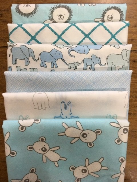 Baby Cot Quilt baby blues