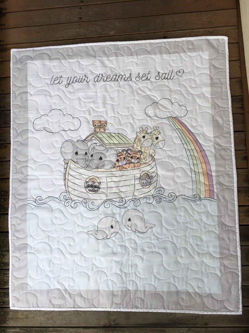 Let your Dreams set sail cot quilt