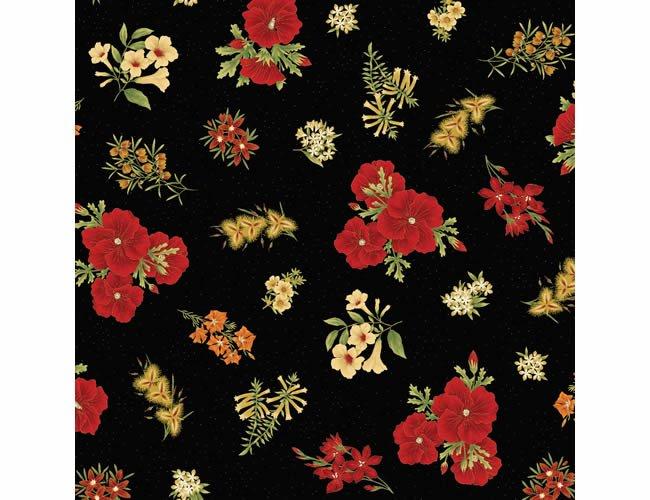 Floral red  black 017 3