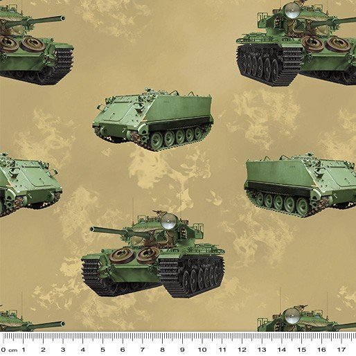 Remembering Vietnam Armoured personnel carrier and tanks beige