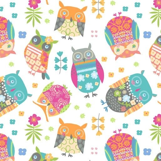 Awesome Owls White