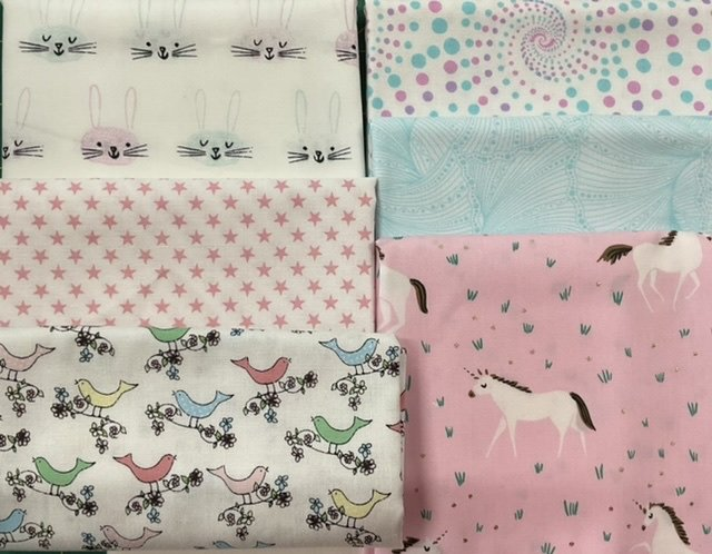 Baby Cot Quilt pink and pastel