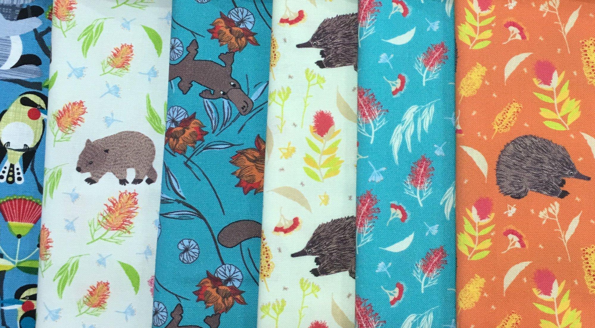 Baby Cot Quilt Australiana fabric kit