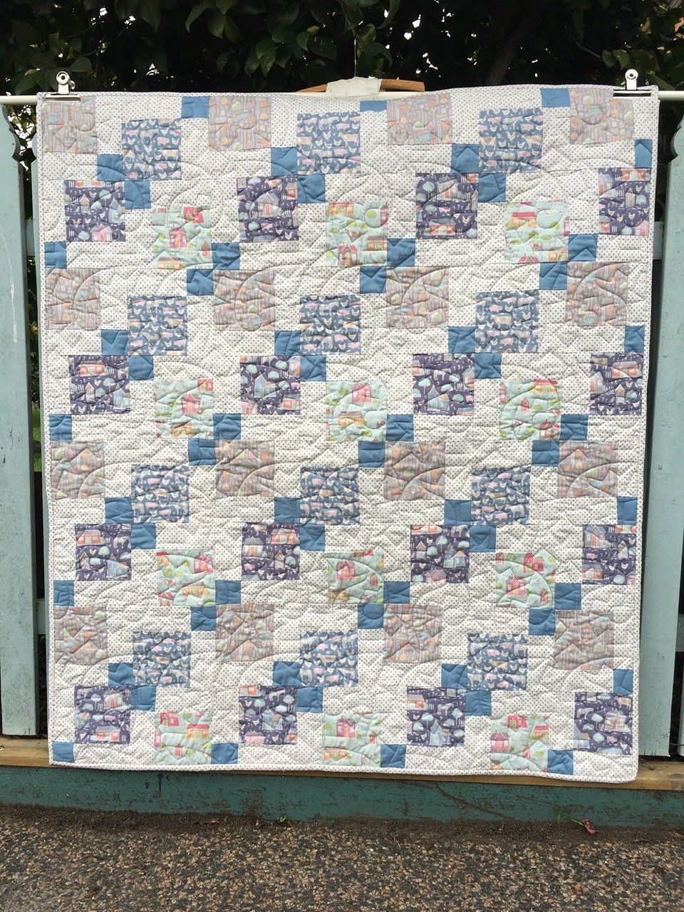 On the Farm with Tilda baby cot quilt kit