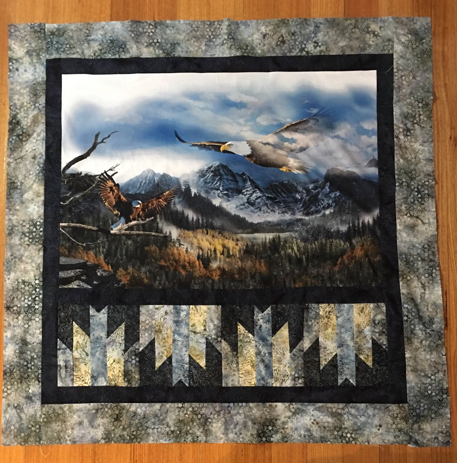 EAGLES FLY HIGH quilt top kit