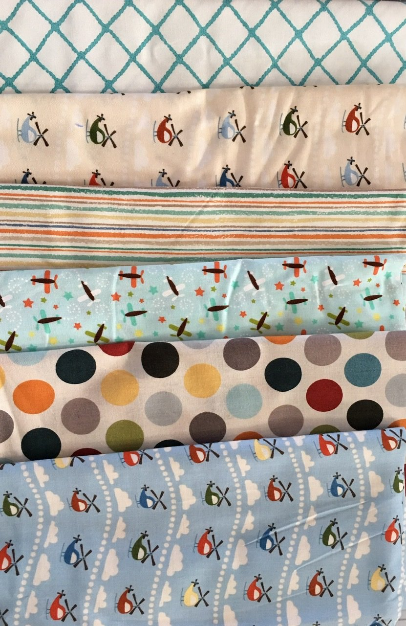 Baby Cot Quilt helicopters and planes