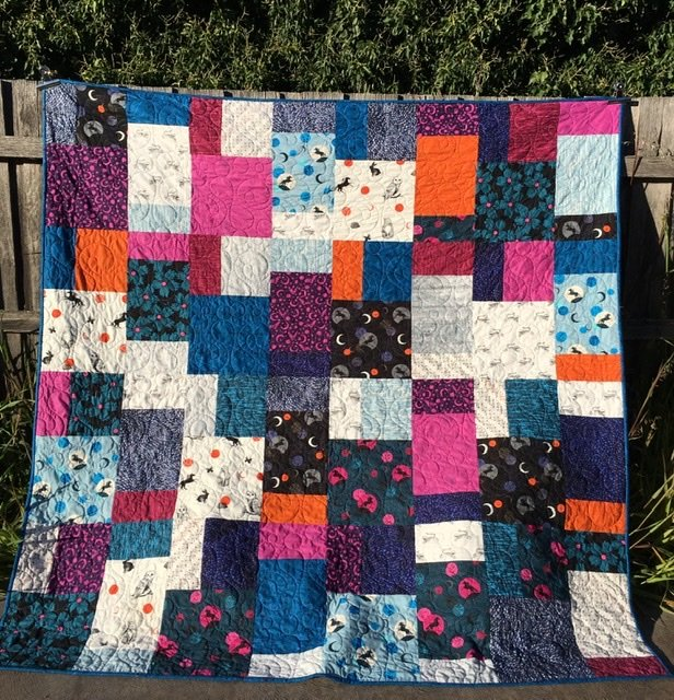 Queen size cotton and steel quilt