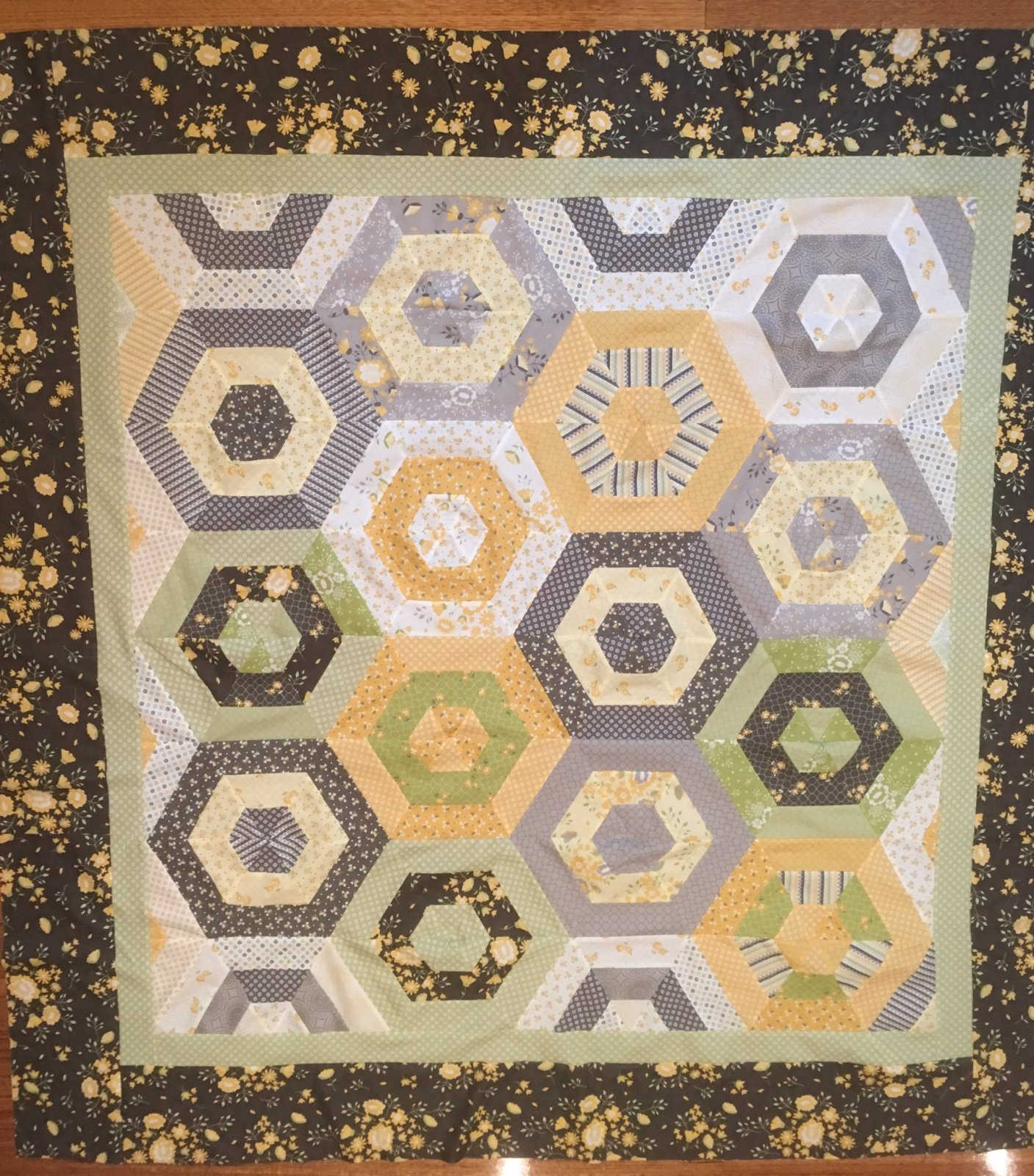 Pepper and Flax throw quilt
