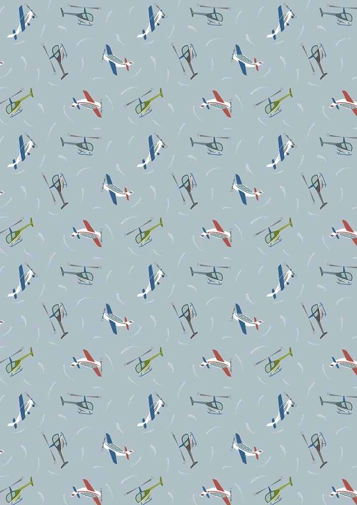 Small Things on the Move 32 Planes on Light Blue