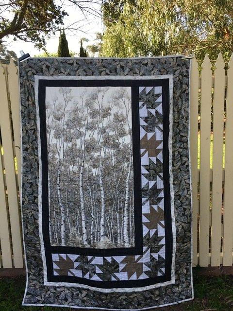 Wildwood Grace wall quilt top fabric kit