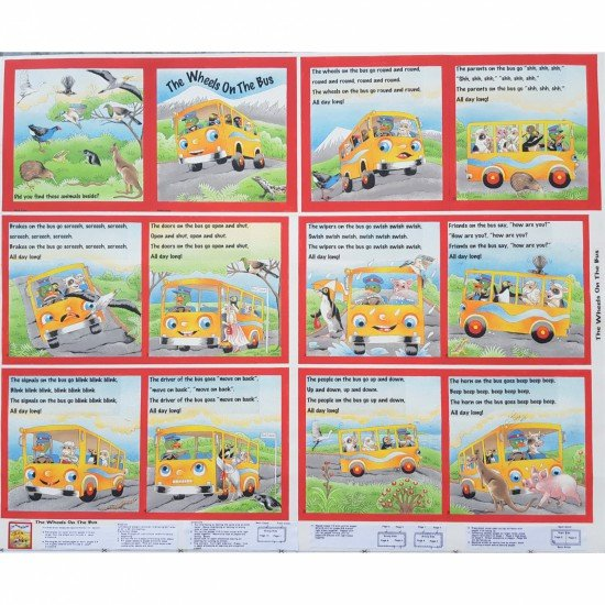 The wheels on the bus cloth book