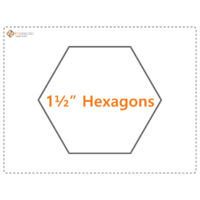 Imprezzio 1 1/2  inch  hexagon papers 55  pack