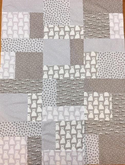 Earthy Bears Cot Quilt  fabric kit