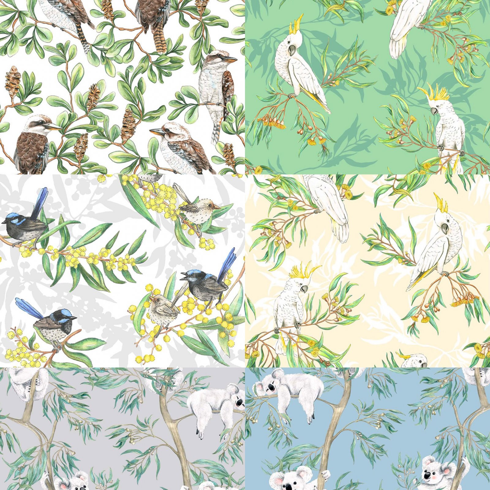 Birds and animals fat quarter bundle