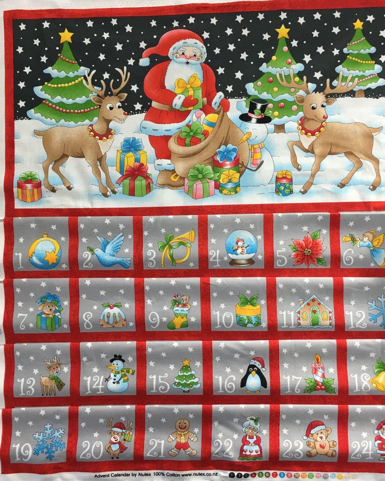 Christmas Advent Calendar Santa with reindeer