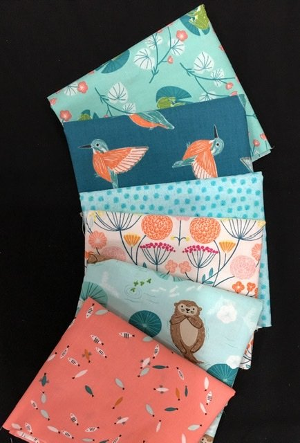 Baby Cot Quilt fabric kit Rivelin Valley