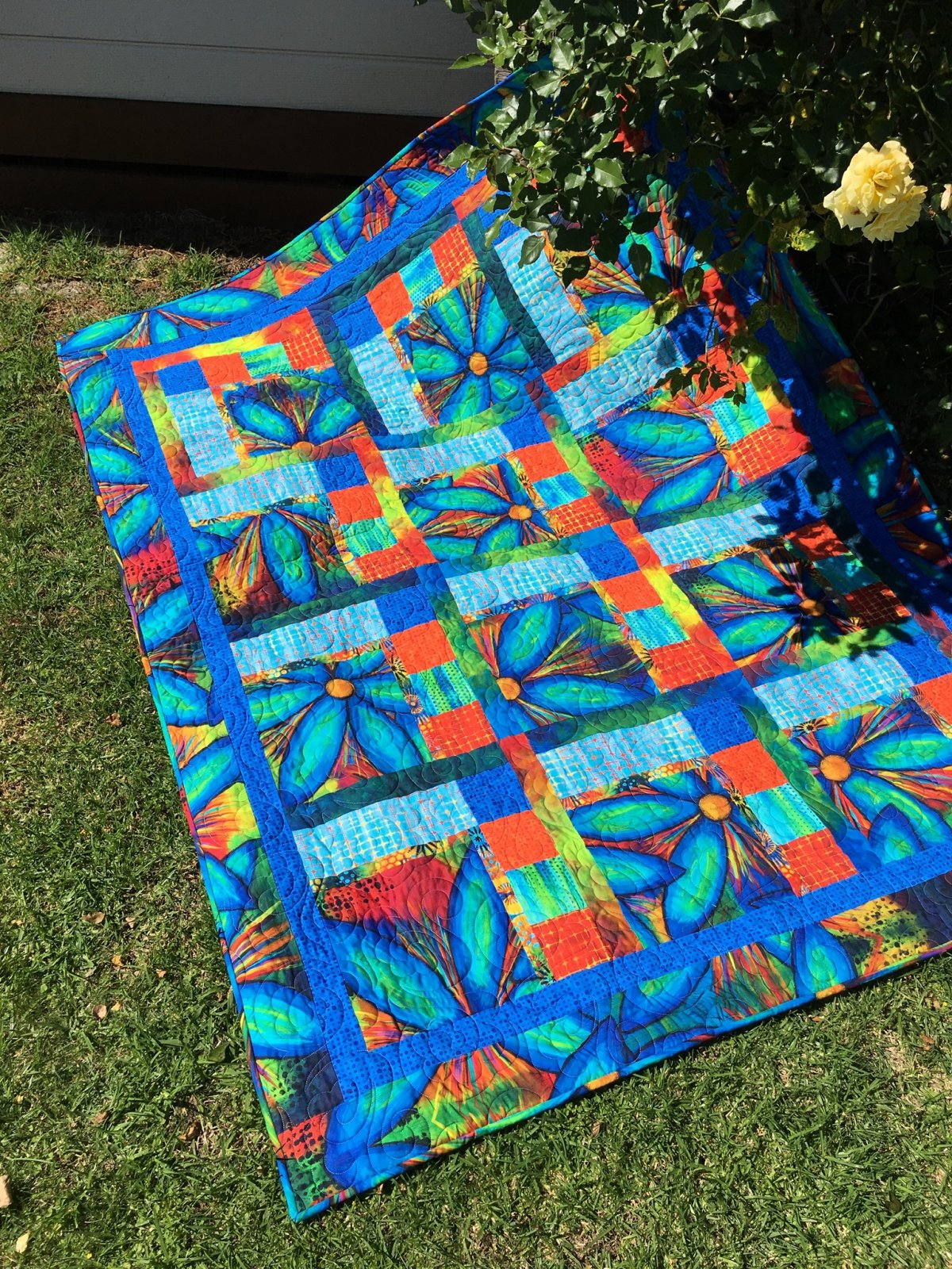 Garden Bright quilt top kit