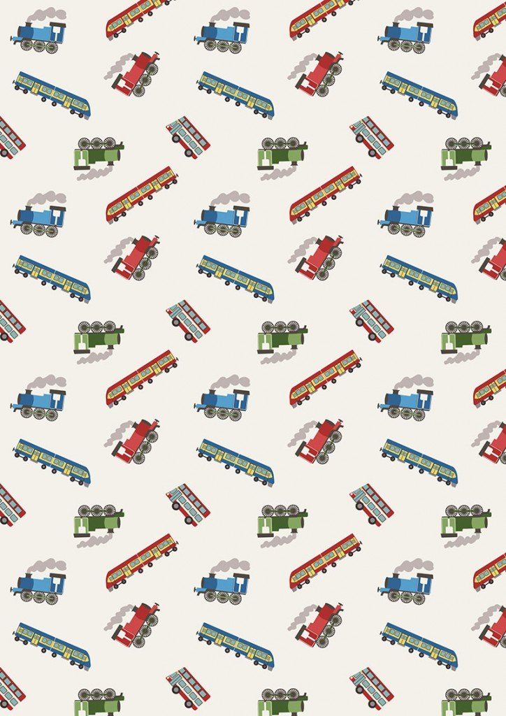 Small Things on the Move 41 Trains on Cream