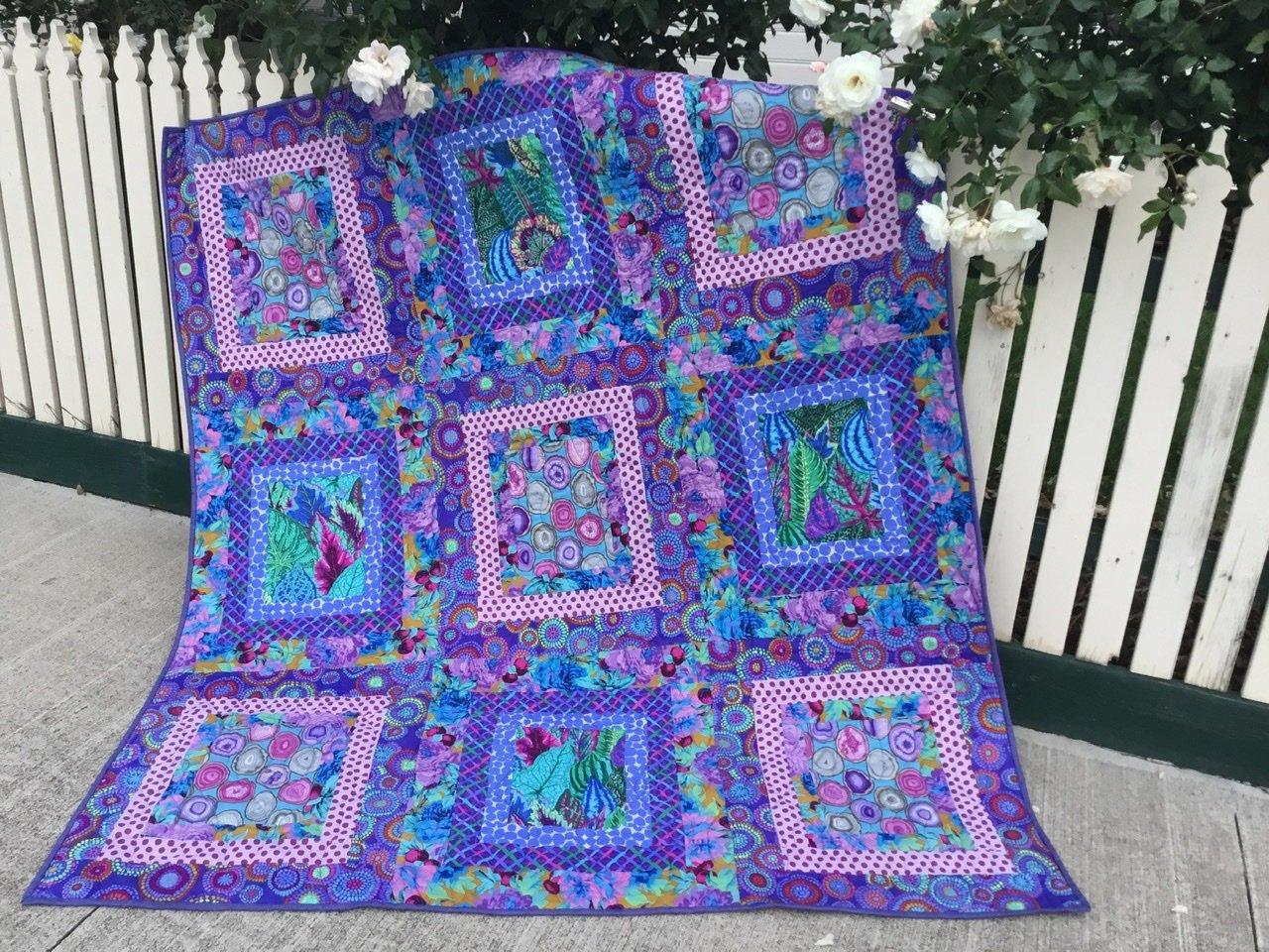 Purple Ripples Quilt pack