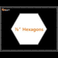 Imprezzio 7/8 inch  hexagon papers 90 pack