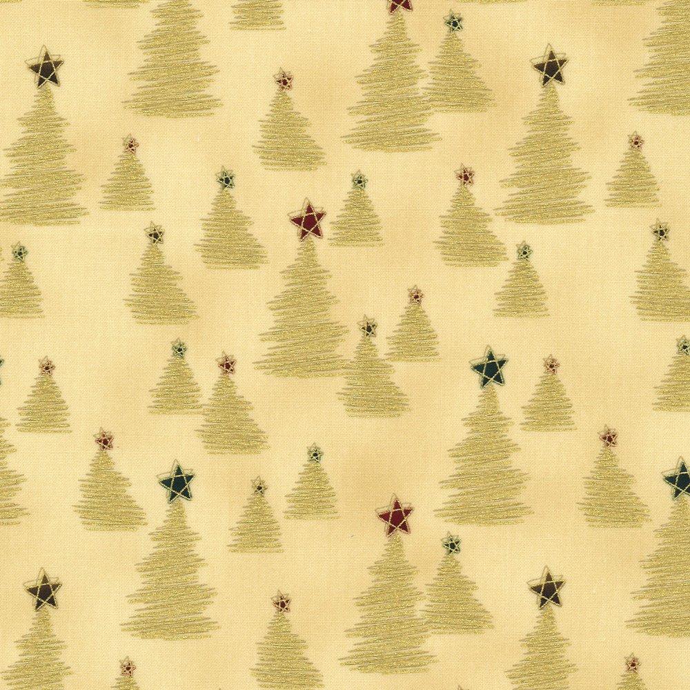 Christmas Wonders Trees beige gold  4596 203