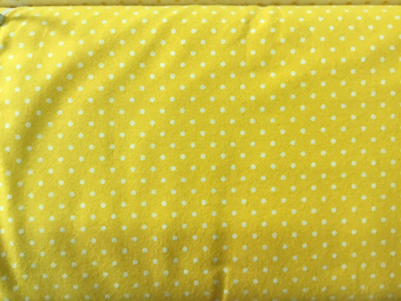 Yellow  flannel with white dots