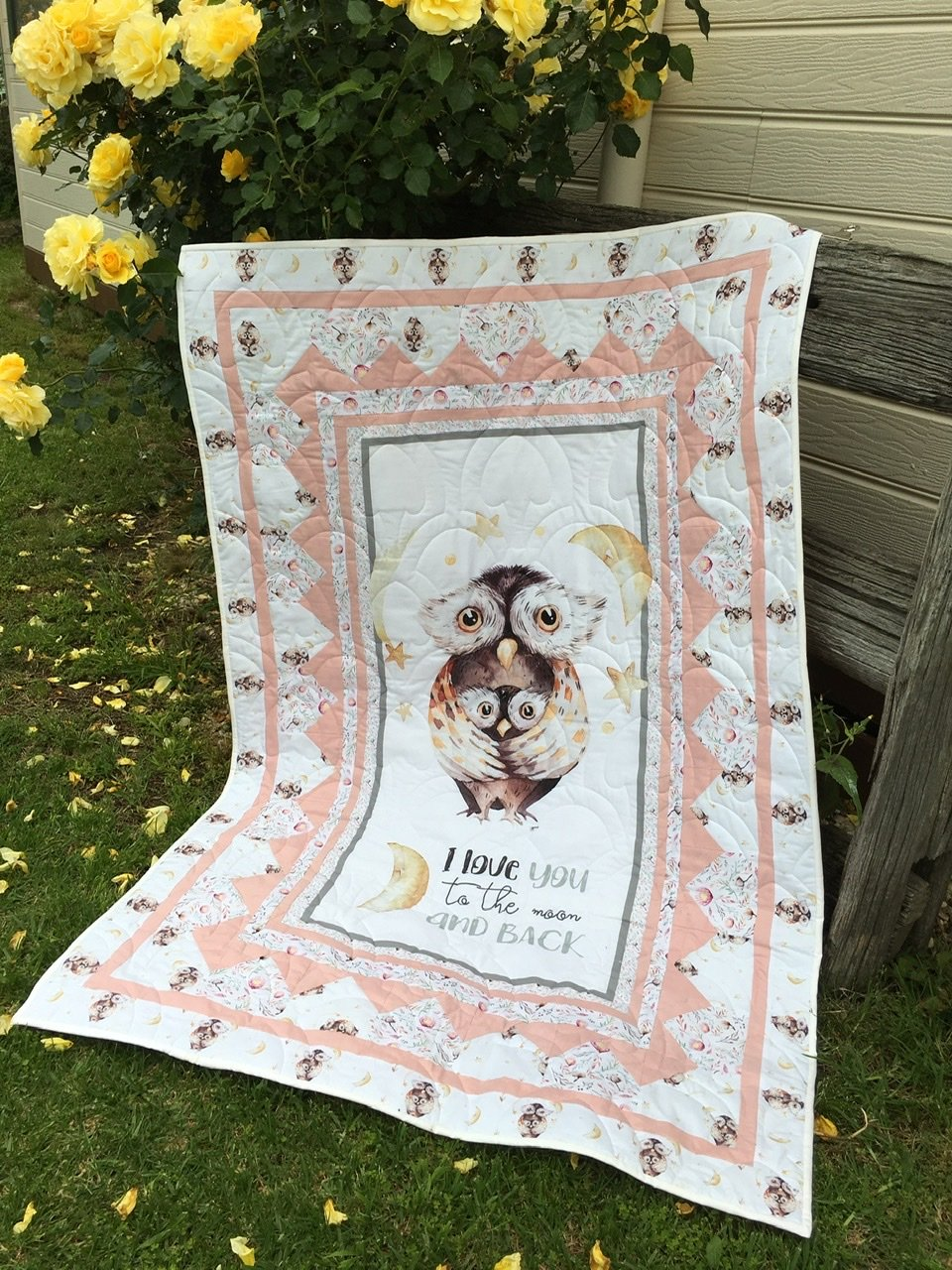 A Mothers Love you to the Moon and Back quilt top kit