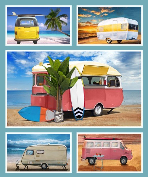 Retro Campers Caravans panel