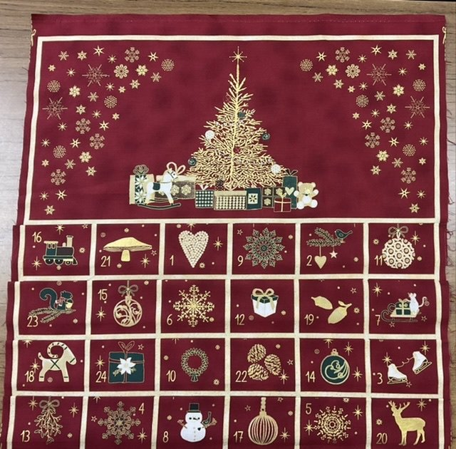 Christmas Advent Calendar red and gold