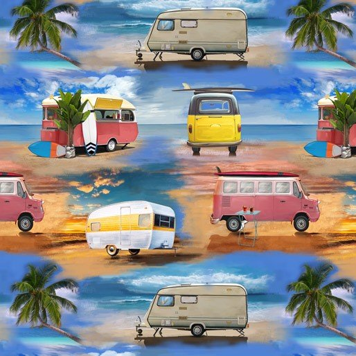 Retro Campers Allover B