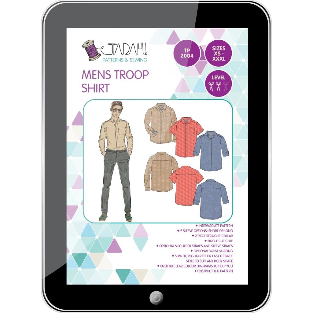 Tadah Mens troop shirt multi size