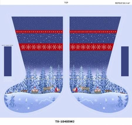 Large Christmas Stocking panels
