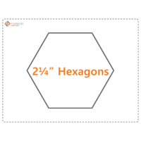 Imprezzio 2 1/4  inch  hexagon papers 75 pack.