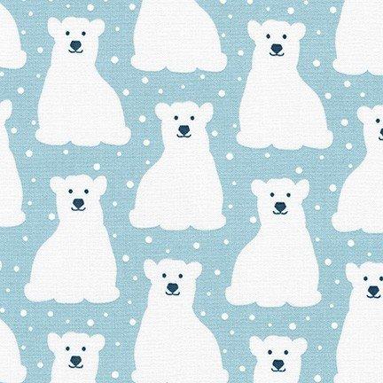 Polar bears ice blue