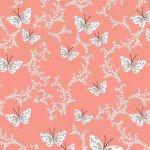 Michael Miller Sprinkling butterflies coral