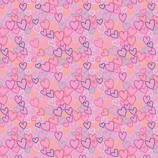 Daydream hearts pink