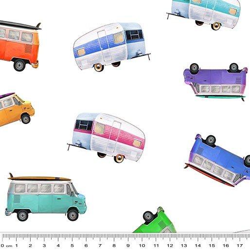 Retro Caravans 9100F on white