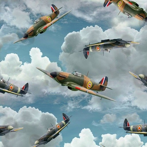 Air Force Centenary Hurricane and Spitfire aircraft