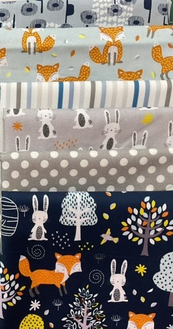 Baby Cot Quilt Fox and bunnies