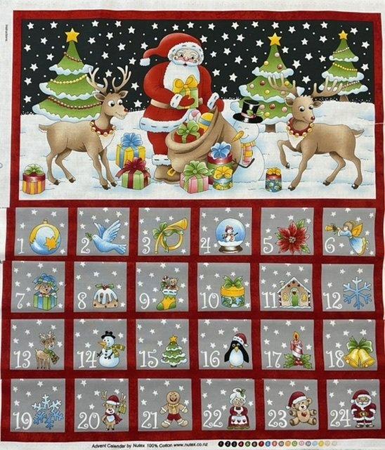 Christmas Advent Calendar Santa on the snow